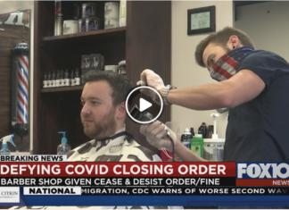 Alabama barber defies closure order